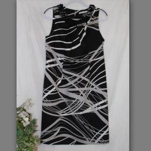 Stunning Peter Nygard Sheath Dress Beaded Collar